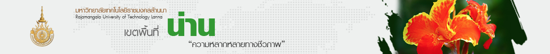 โลโก้เว็บไซต์ ผังเว็บไซต์ : มหาวิทยาลัยเทคโนโลยีราชมงคลล้านนา น่าน